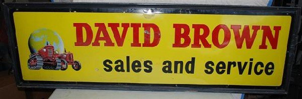 63: David Brown (tractor) Sales and Service with crawle