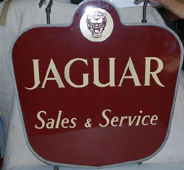 66: Jaguar Sales & Service with logo,  2-SSP diecut sig