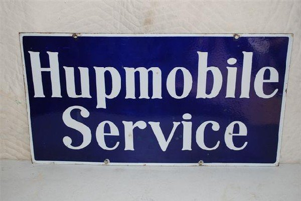 67: Hupmobile Service DSP sign,  16x30 inches,