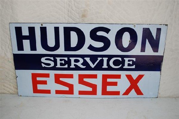 68: Hudson Essex Service DSP sign,  16x30 inches,