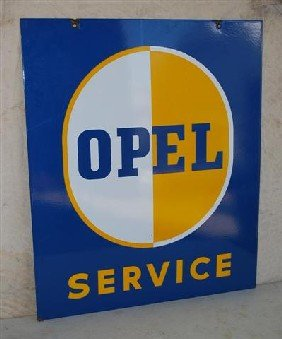 Opel Service With Logo,  DSP Sign,  36x30 Inches,