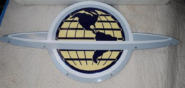 73: (Oldsmobile) World logo off of a neon sign,  DSP di