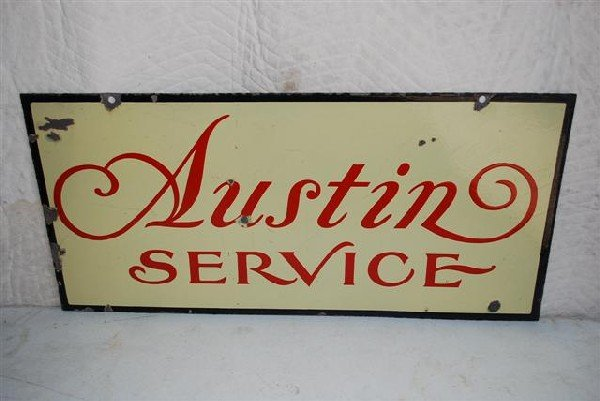 76: Austin Service  DSP sign,  17x36 inches,