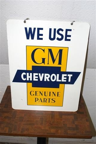 77: We Use Chevrolet GM Genuine Parts,  DST sign,  24x1
