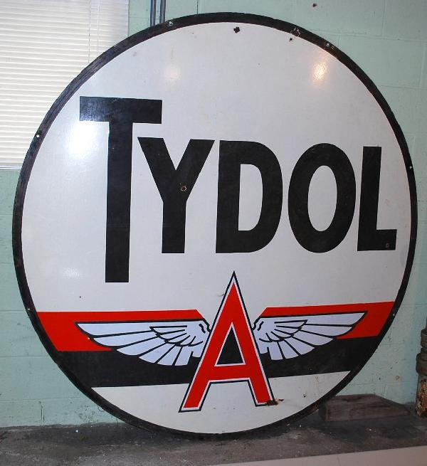 88: Tydol with Flying A logo over red & black stripe, i