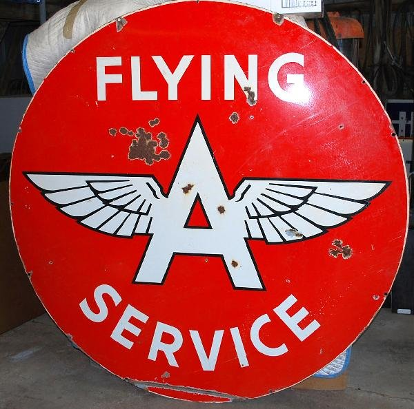 89: Flying A Service Identification DSP sign,  72 inche