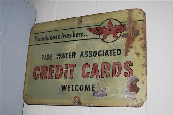 456: Tide Water Credit Cards Welcome with Flying A logo