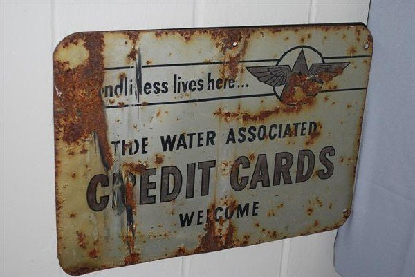456: Tide Water Credit Cards Welcome with Flying A logo - 2