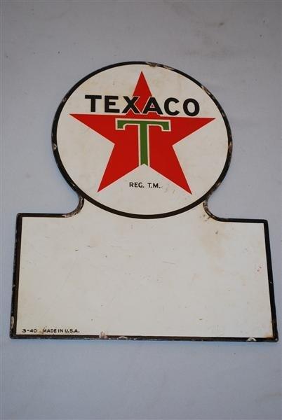 5: Texaco (white-T) Truck Door SSP keyhole sign, 13x11