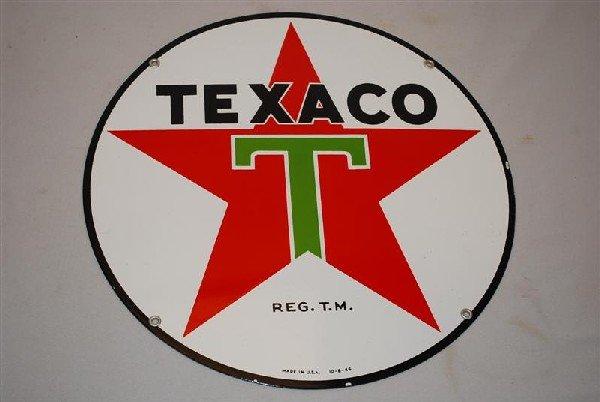 6: Texaco (white-T) star logo, SSP sign, 15 inch,