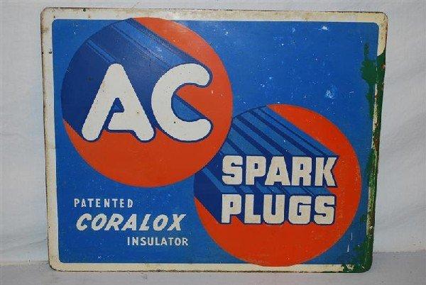 11: AC Spark Plugs Coralox Insulator tin flange sign, 1