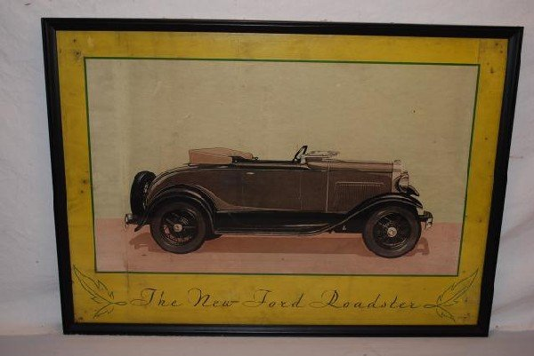 "513: 1930 ""The New Ford Roadster"" (yellow border) showr"