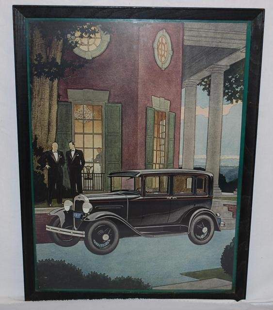 515: 1930 Ford Four Door Sedan with two men in tuxedos,
