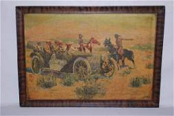 628 Early Piel Bros Brewery Giclee print on oil cloth