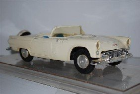 1956 Ford Thunderbird Convertible, White With Whi