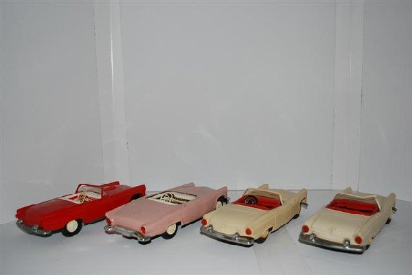 1012: 4-1955 Ford Thunderbird Convertibles, promo cars,