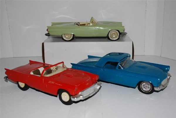 1016: 3-1957 Ford Thunderbird Convertibles promo cars,