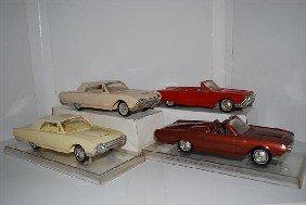 1018: 4-1961 Ford Thunderbird promo cars, two convertib