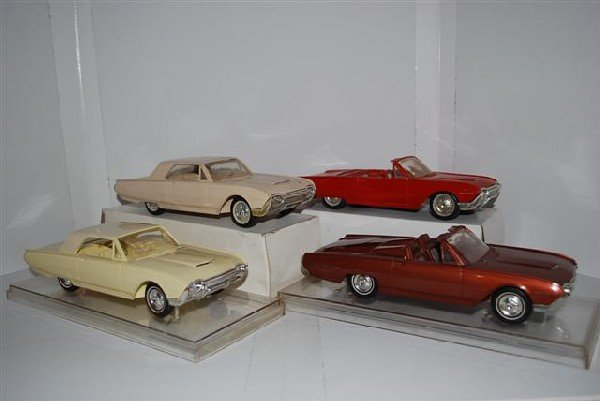 1018: 4-1961 Ford Thunderbird promo cars, two convertib