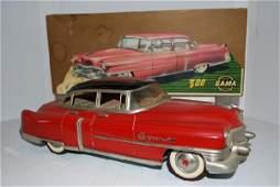 """1054: Gama 300 """"Cadillac"""" Four Door Sedan tin litho, fr"""