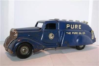 "1128: Metalcraft Pure Oil Art Deco Truck Press 15"""