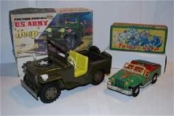 1331 Japanese Television Jeep  US Army Jeep tin lit