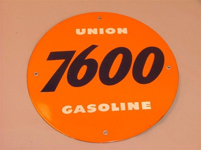 """2: """"Union"""" 7600 Gasoline  SSP sign 11.5 inches"""