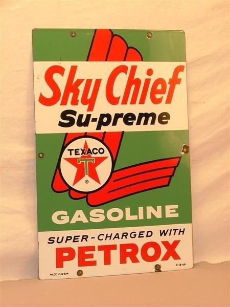 """4: Texaco """"Sky Chief Su-preme Gasoline""""  Super -Charged"""