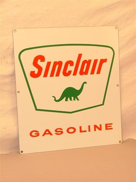 "6: ""Sinclair Gasoline"" Sign SSP sign 13.5x12"