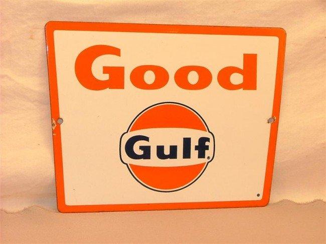 "7: ""Good Gulf"" pump plate PPP sign 9x11"