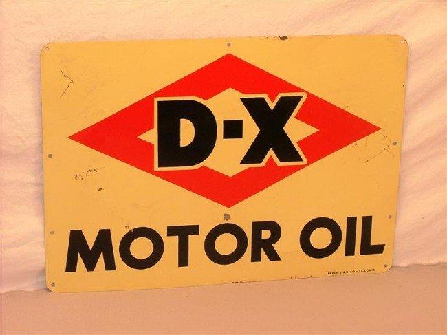 13: D-X Motor Oil  SST sign 14x19