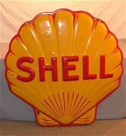"14: Shell ""Clam shell""  SSP embossed sign 48 inches"