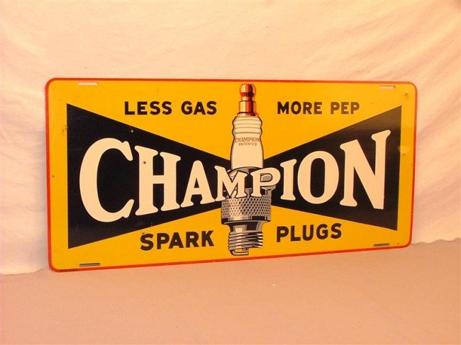17: Champion Spark Plugs  SST sign 12x26