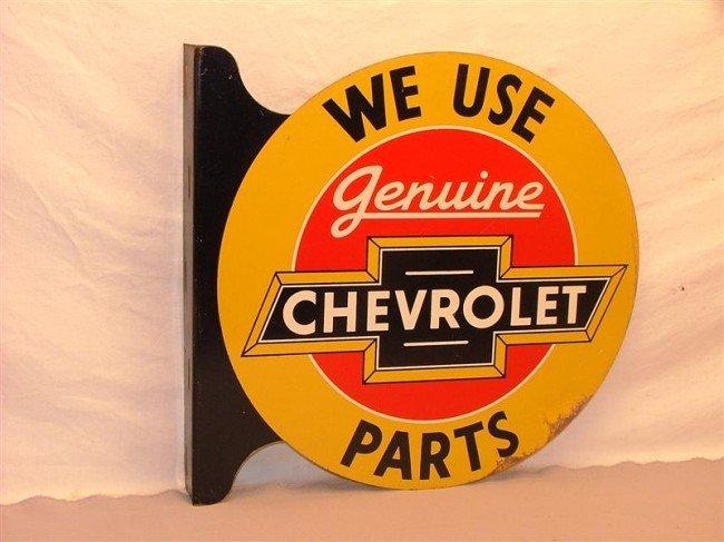 19: We Use Genuine Chevrolet Parts DST flange sign 18x1
