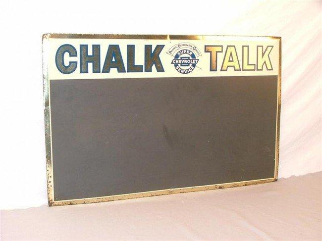 "21: Chevrolet Super Service ""Chalk Talk""  SST sign with"