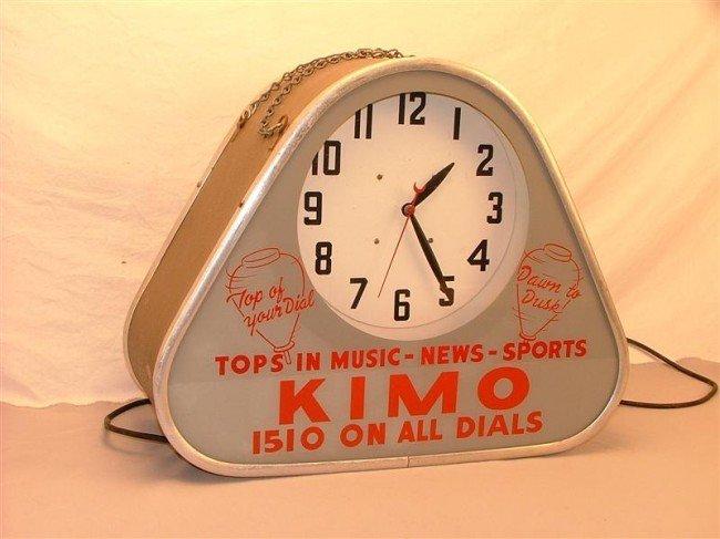 "28: KIMO 1510 ""Tops in music-news-sports""   neon clock"