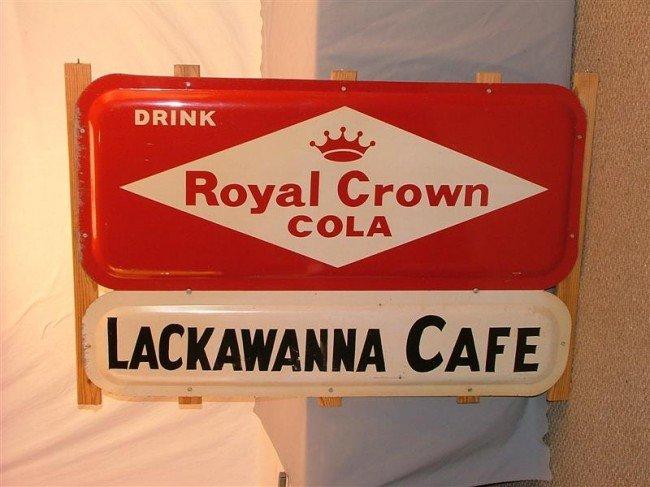 "42: Drink Royal Crown Cola ""Lackawanna Café"" SST sign 3"