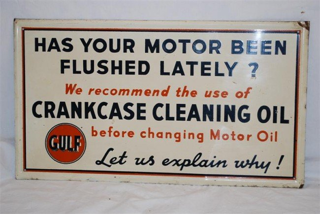 "15: Gulf ""Has Your Motor Been Flushed Lately?"" Crankcas"