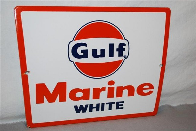 18: Gulf Marine White  PPP sign, 8.5x11.5 inches,