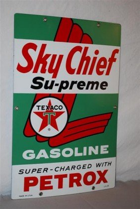 Texaco (white-T) Sky Chief Supreme Gasoline  PPP Si