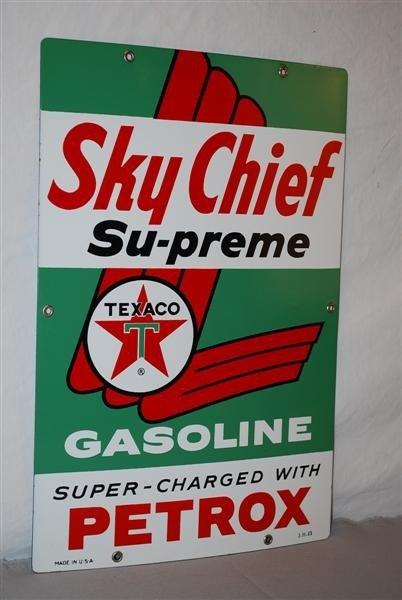 25: Texaco (white-T) Sky Chief Supreme Gasoline  PPP si