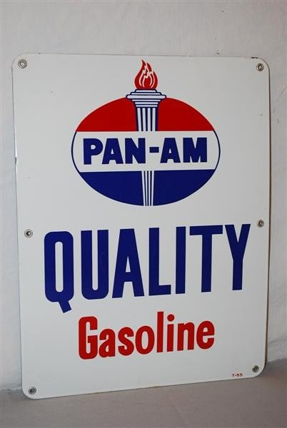 26: Pan-Am Quality Gasoline with logo, PPP sign, 17x13