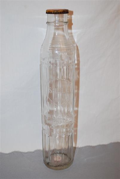 43: Shell-Penn (eastern) motor Oil one quart tall glass
