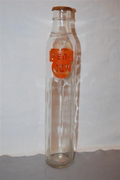 47: Penn Joy Motor Oil one Imperial quart tall glass bo