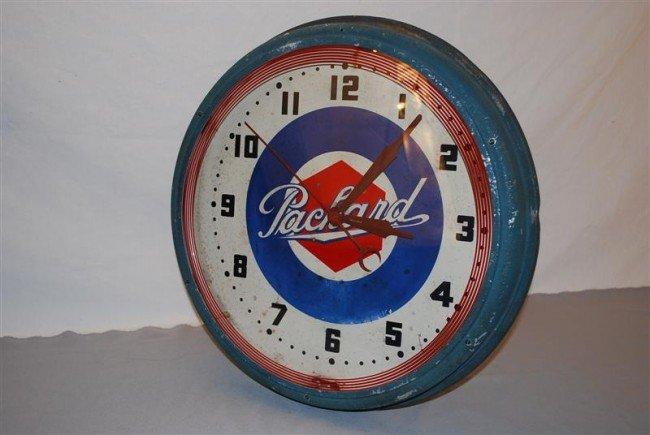 139: Original Packard Neon Clock with logo center,  20