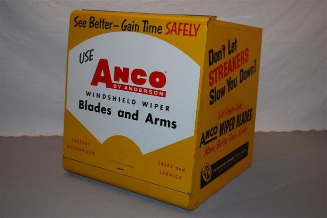 451: Anco Wiper Blades metal countertop display cabinet