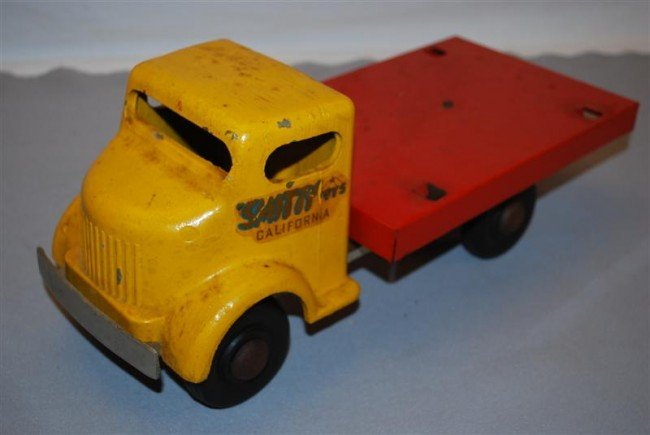 17: Rare Smith Miller Ford Cab-Over Truck with Stake Be