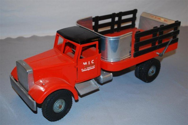 19: Smith Miller MIC Stake Bed Truck with lift gate, di