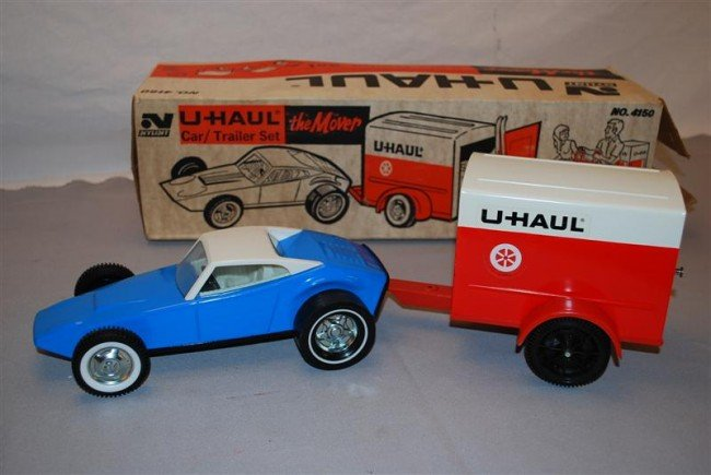 "24: Nylint U-Haul ""the Mover"" Car/Trailer Set NIB, pres"