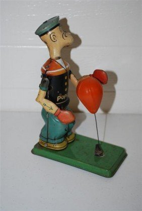 Boxing Popeye By Chein & Co. King Features, Tin Lit